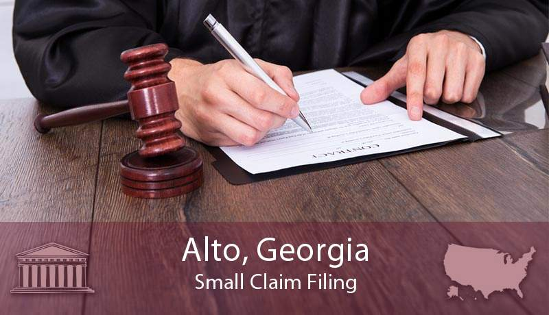 Alto, Georgia Small Claim Filing