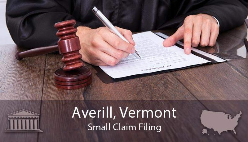 Averill, Vermont Small Claim Filing