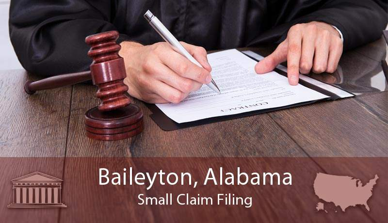 Baileyton, Alabama Small Claim Filing