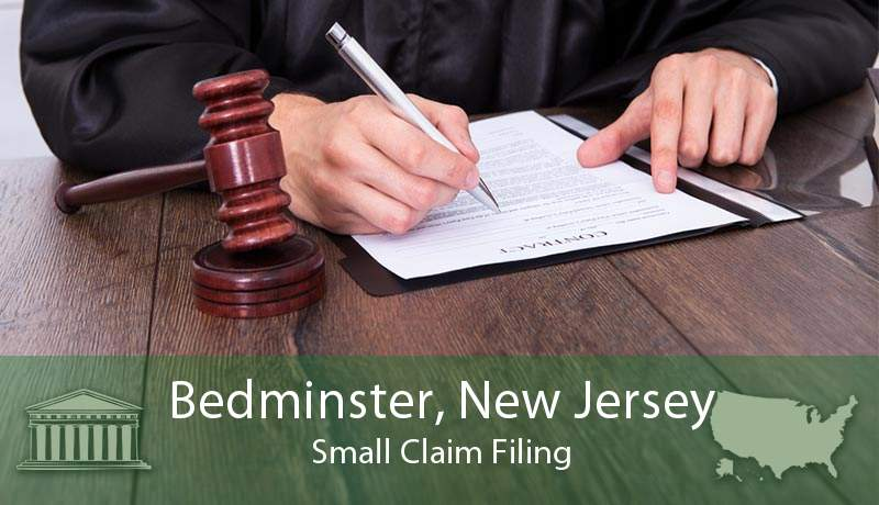 Bedminster, New Jersey Small Claim Filing