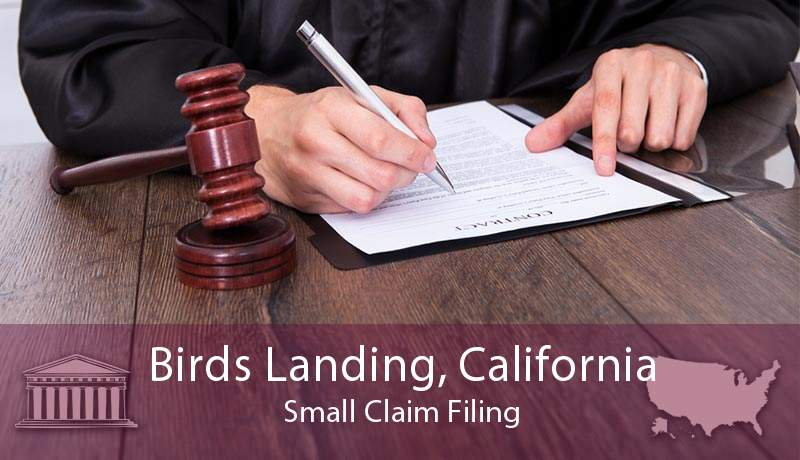 Birds Landing, California Small Claim Filing
