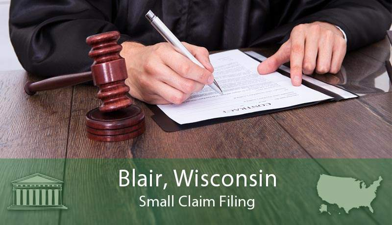Blair, Wisconsin Small Claim Filing