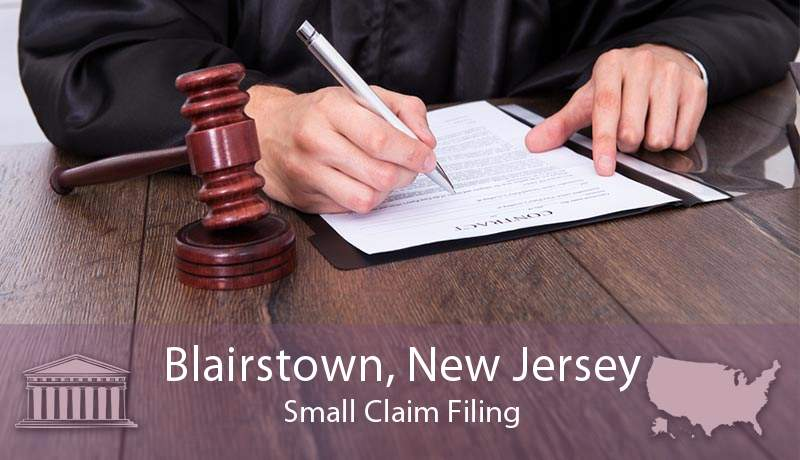 Blairstown, New Jersey Small Claim Filing