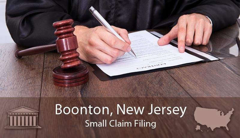 Boonton, New Jersey Small Claim Filing