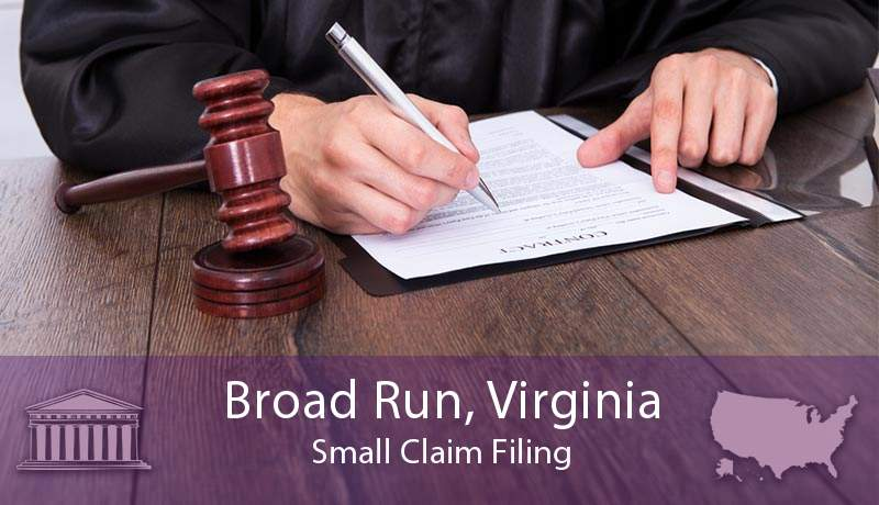 Broad Run, Virginia Small Claim Filing