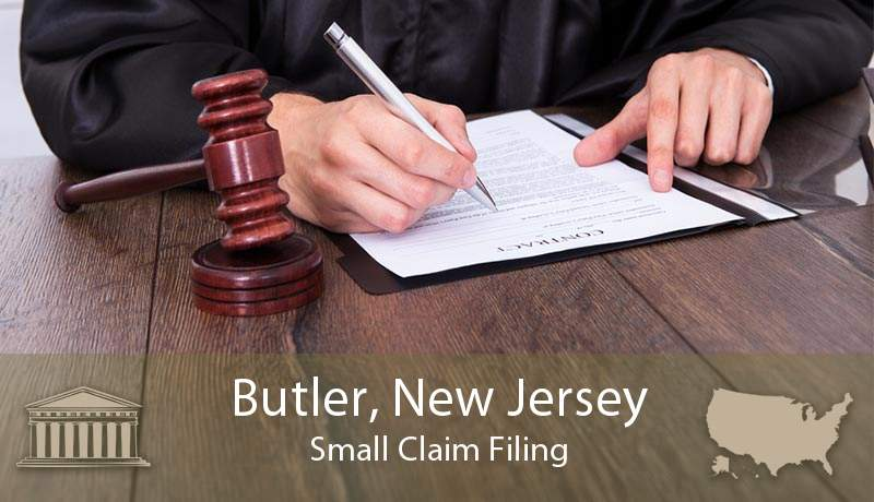 Butler, New Jersey Small Claim Filing