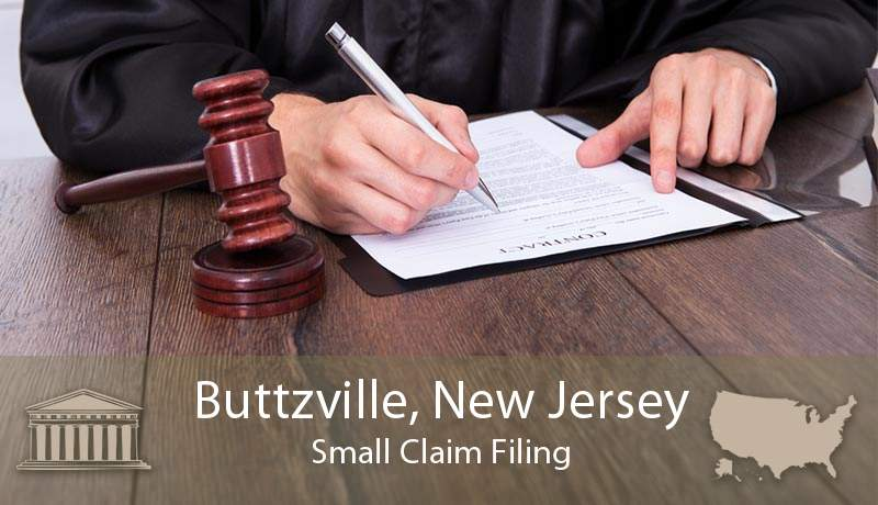 Buttzville, New Jersey Small Claim Filing