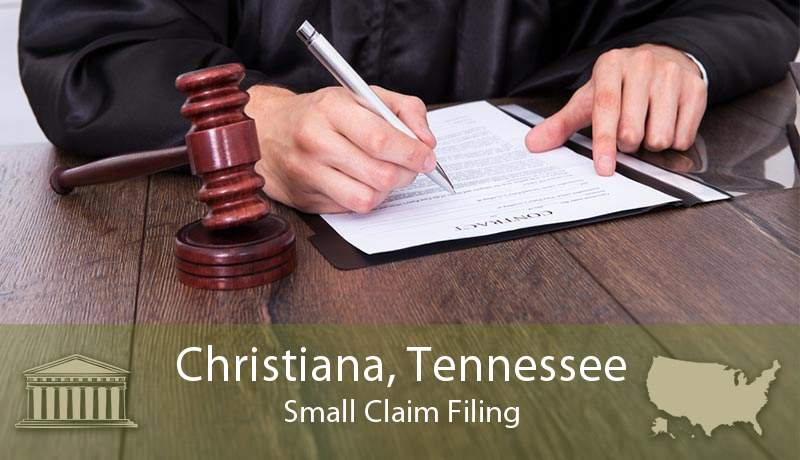 Christiana, Tennessee Small Claim Filing