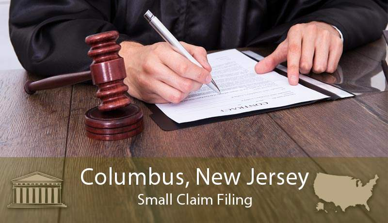 Columbus, New Jersey Small Claim Filing