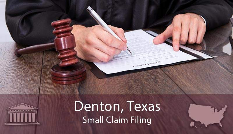 Denton, Texas Small Claim Filing