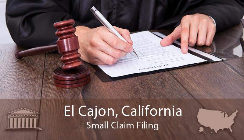 El Cajon, California Small Claim Filing