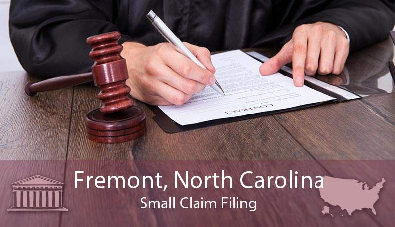 Fremont, North Carolina Small Claim Filing