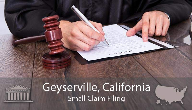 Geyserville, California Small Claim Filing