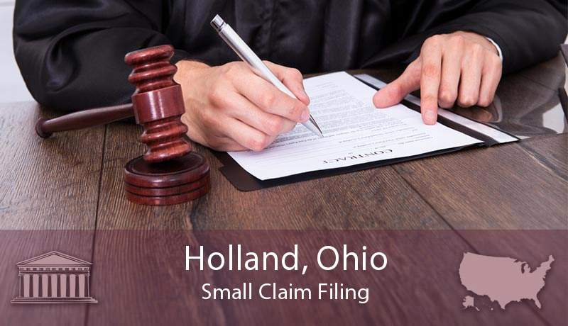 Holland, Ohio Small Claim Filing