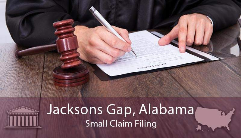 Jacksons Gap, Alabama Small Claim Filing