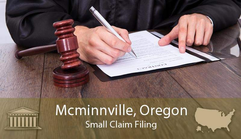 Mcminnville, Oregon Small Claim Filing