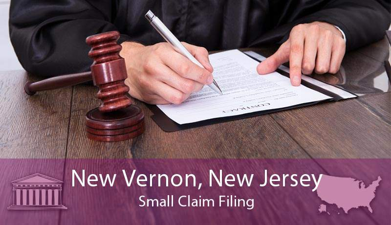 New Vernon, New Jersey Small Claim Filing