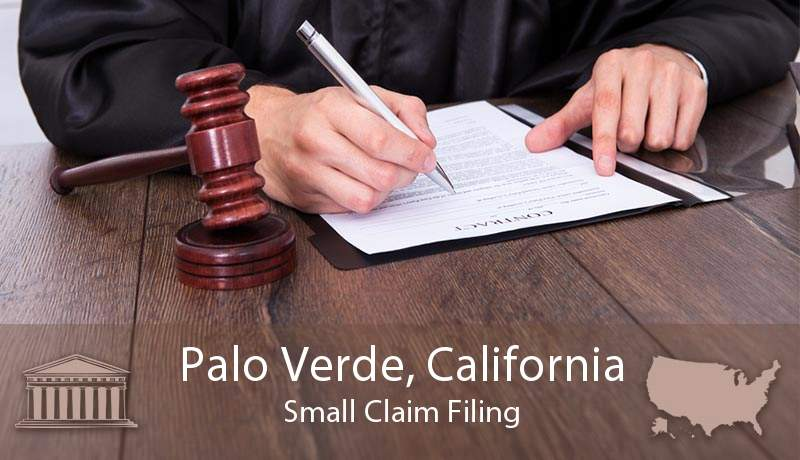 Palo Verde, California Small Claim Filing