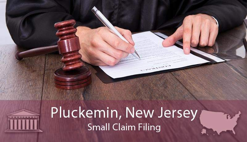 Pluckemin, New Jersey Small Claim Filing