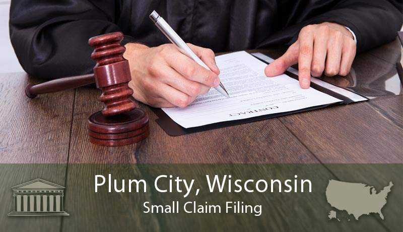 Plum City, Wisconsin Small Claim Filing