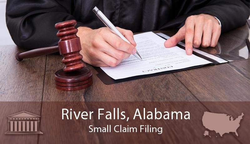 River Falls, Alabama Small Claim Filing