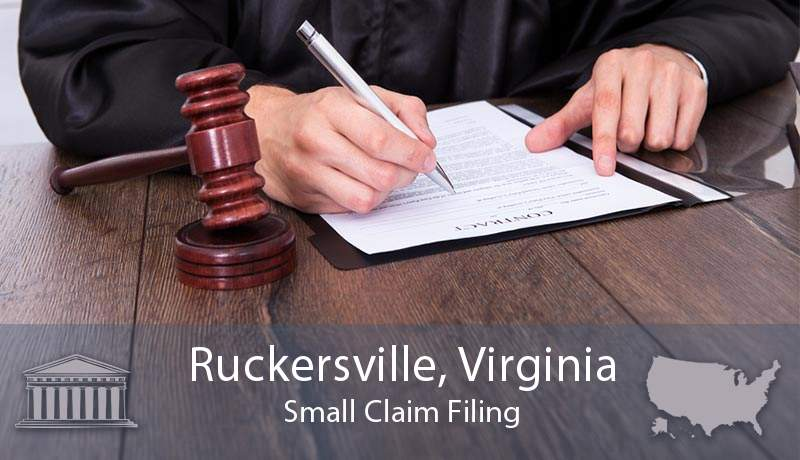 Ruckersville, Virginia Small Claim Filing