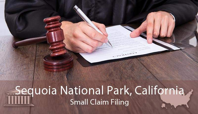Sequoia National Park, California Small Claim Filing