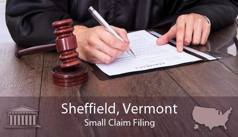 Sheffield, Vermont Small Claim Filing
