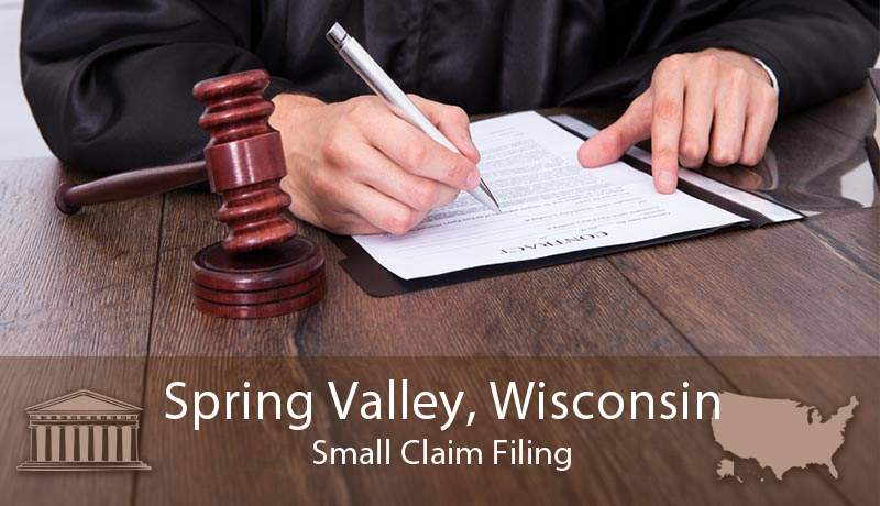 Spring Valley, Wisconsin Small Claim Filing
