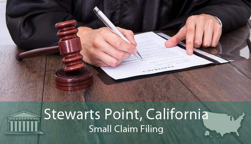 Stewarts Point, California Small Claim Filing