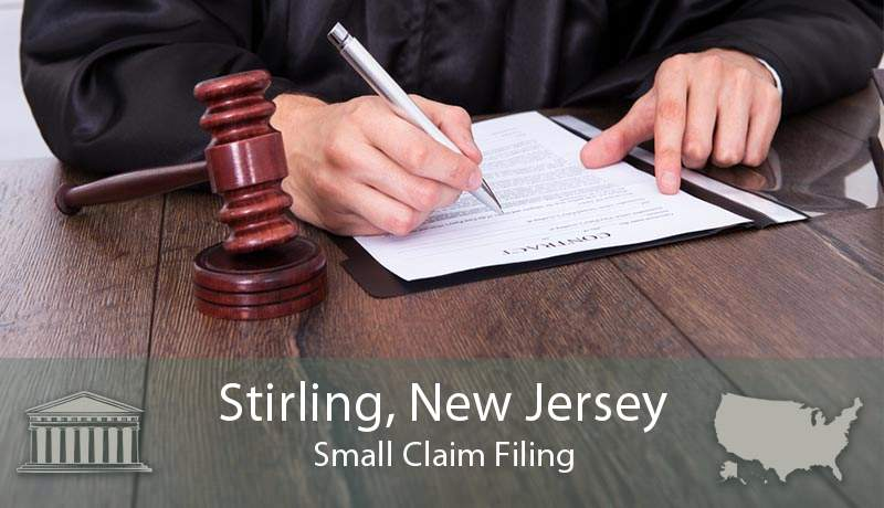 Stirling, New Jersey Small Claim Filing