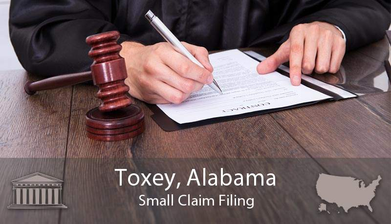 Toxey, Alabama Small Claim Filing