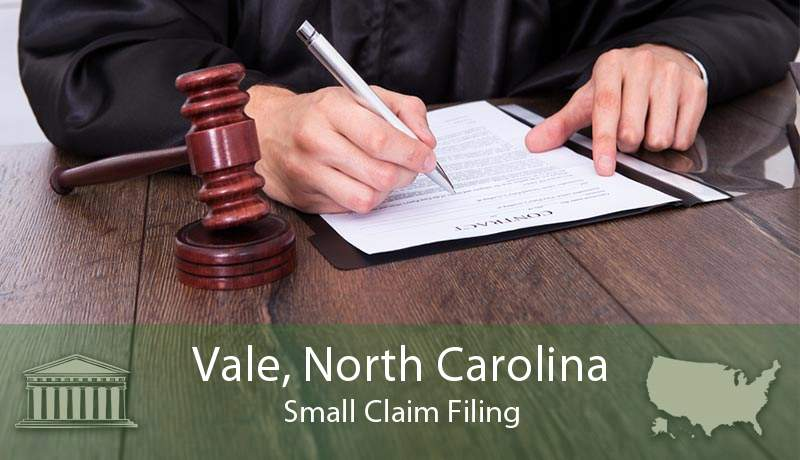 Vale, North Carolina Small Claim Filing