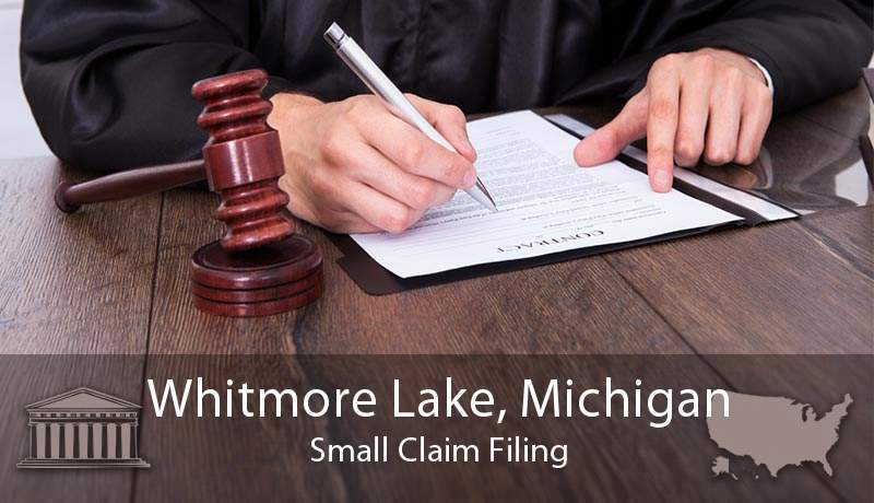Whitmore Lake, Michigan Small Claim Filing